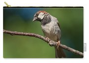 Male House Sparrow Perched In A Tree Carry-all Pouch