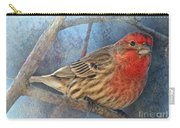 Male Housefinch Close View Carry-all Pouch