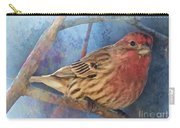 Male Housefinch Digital Paint Carry-all Pouch