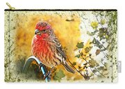 Male Housefinch Photoart Carry-all Pouch