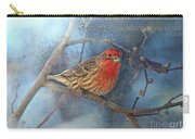 Male Housefinch With Verse Carry-all Pouch