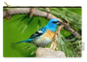 Male Lazuli Bunting Passerina Amoena Carry-all Pouch