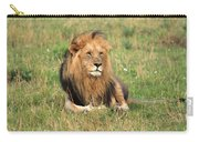 Male Lion On The Masai Mara Carry-all Pouch by Aidan Moran