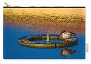 Male Mallard Duck Carry-all Pouch by Carolyn Marshall