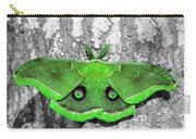 Male Moth Green Carry-all Pouch by Al Powell Photography USA