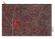 Male Red Cardinal In The Snow Carry-all Pouch