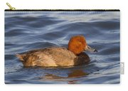 Male Redhead Duck Carry-all Pouch