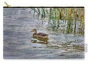 Mallard By The Reeds Carry-all Pouch