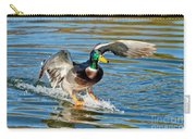 Mallard Drake Skiing To A Stop Carry-all Pouch