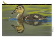 Mallard Duck Chick Swimming In Marsh Carry-all Pouch