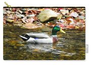 Mallard Duck In The River Carry-all Pouch