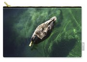 Mallard Duck On Green Pool Carry-all Pouch