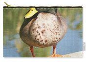 Mallard Duck On Log Carry-all Pouch