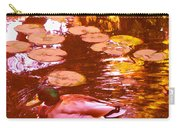 Mallard Duck On Pond 3 Square Carry-all Pouch