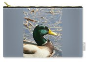 Mallard Duck Portrait Carry-all Pouch