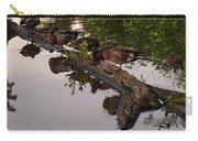 Mallard Ducks Sleeping On A Log Carry-all Pouch