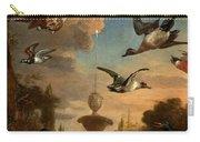 Mallard Golden Eagle Wild Fowl In Flight Carry-all Pouch