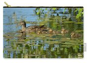 Mallard Mom And The Kids Carry-all Pouch