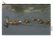 Mallard Mother With Ducklings Carry-all Pouch