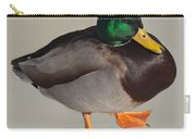 Mallard On Ice Carry-all Pouch