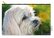 Maltese Carry-all Pouch by Bonnie Rinier