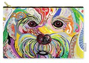 Maltese Puppy Carry-all Pouch by Eloise Schneider