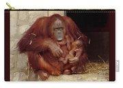 Mama N Baby Orangutan - 54 Carry-all Pouch