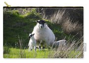 Mama Sheep And Her Two Lambs Carry-all Pouch