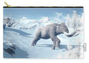 Mammoths Walking Slowly On The Snowy Carry-all Pouch