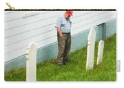 Man At Headstone Carry-all Pouch