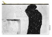 Man At Western Wall Carry-all Pouch