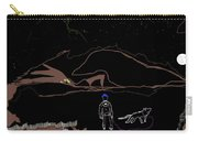 Man With Best Friend Under Stars  Carry-all Pouch