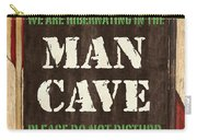 Man Cave Do Not Disturb Carry-all Pouch by Debbie DeWitt