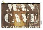 Man Cave My Cave My Rules Carry-all Pouch by Debbie DeWitt