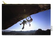 Man Climbing On An Overhang In Joshua Carry-all Pouch