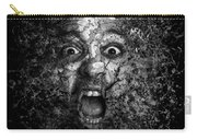 Man Eyes Face Horror Portrait Black And White  Carry-all Pouch