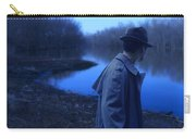 Man In Fedora By River Carry-all Pouch