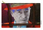 Man In Red Fedora Carry-all Pouch