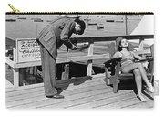 Man Photographs Sleeping Girl Carry-all Pouch