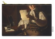 Man Reading By Candlelight Carry-all Pouch