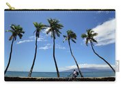 Man Riding Bicycle Beside Palm Trees Carry-all Pouch