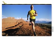 Man Running In Moab, Utah Carry-all Pouch