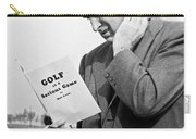 Man Studying A Golf Book Carry-all Pouch