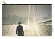 Man With Case On Bridge Carry-all Pouch