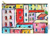 Manarola Colorful Houses Painting Detail Carry-all Pouch