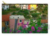 Manarola Flowers And Houses Carry-all Pouch