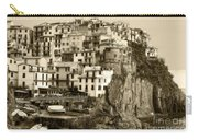 Manarola Italy Sepia Carry-all Pouch