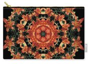 Mandala Daylily Carry-all Pouch