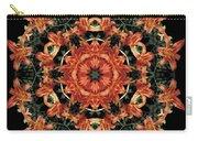 Mandala Daylily Carry-all Pouch