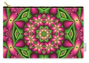 Mandala Green And Pink Carry-all Pouch